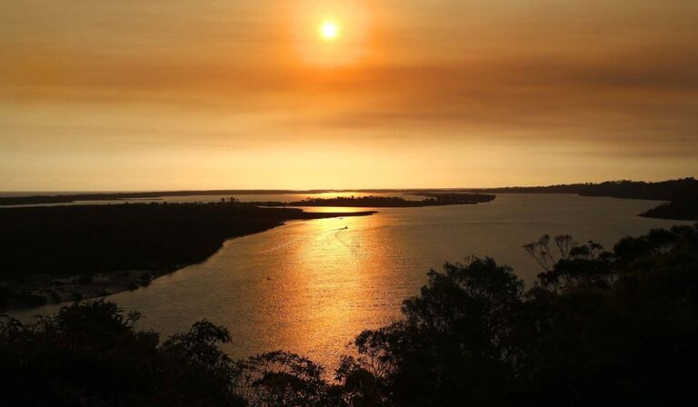 Sunset over the lakes at lakes Entrance