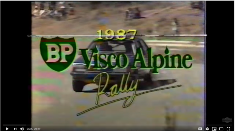 still from opening of 1987 Alpine TV coverage