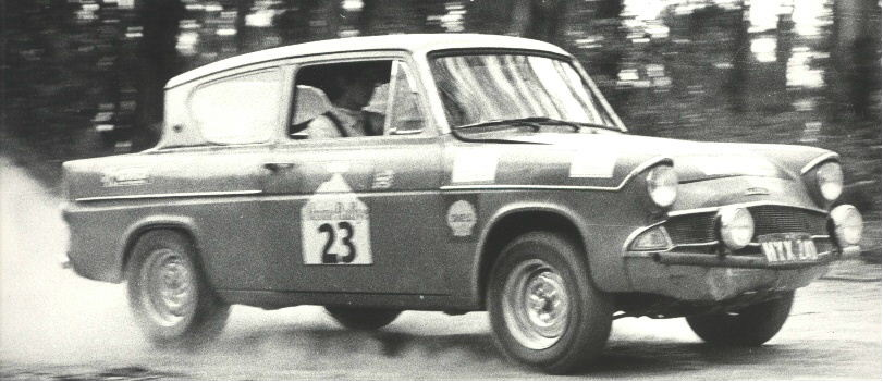 Neil and Ian Wilson, Ford Anglia, 1970 Alpine