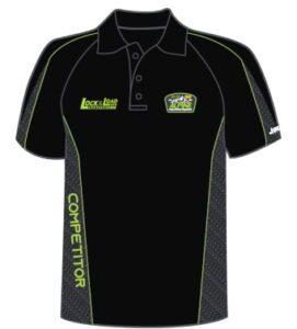 competitors' polo shirt